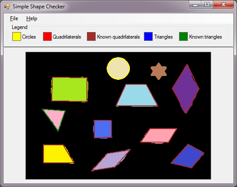 Shape Checker sample application