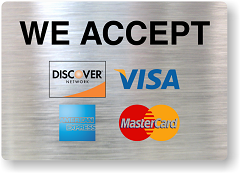 We accept all major credit cards !